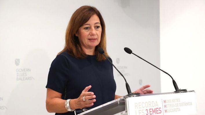 Armengol, a Sánchez: 'Baleares siempre ha sido solidaria. Ahora le toca serlo al resto del país'