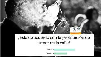 Seis de cada diez encuestados, a favor de la prohibición de fumar en las calles