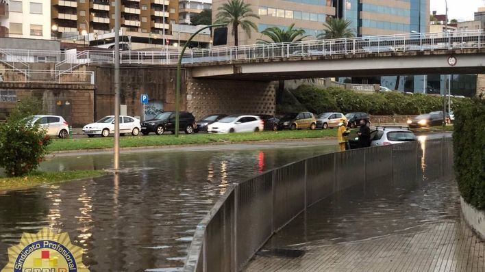 El 112 comunica ocho incidentes relacionados con la lluvia en Mallorca