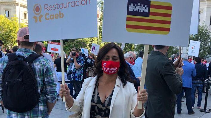 Baleares se manifiesta en Madrid por la salvación del sector de la restauración