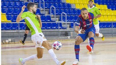 El Palma Futsal cae en el Palau Blaugrana en un choque igualado (3-2)