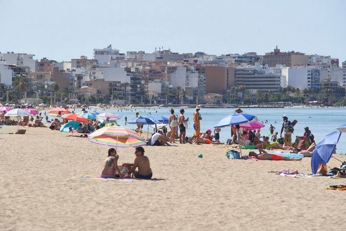 El 55 por ciento del total de la planta hotelera de Playa de Palma permanece abierta