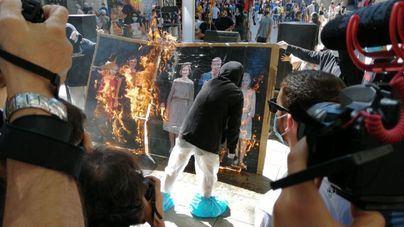 Actos vandálicos y quema de imágenes del Rey en la Diada catalana