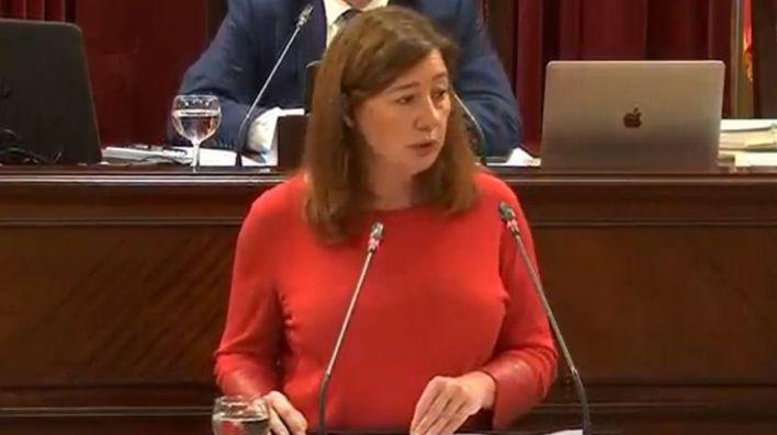 Armengol da cuenta de su gestión del Covid19 en el Parlament