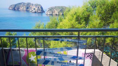 Vandalismo en las antiguas escaleras del mirador de las islas Malgrat