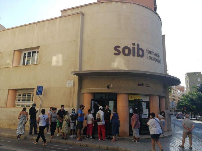 El desempleo en Palma se dispara un 70,9 por ciento en julio