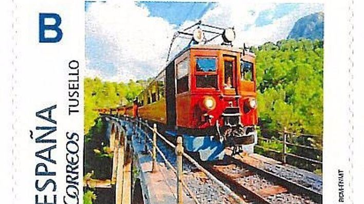 Correos crea una nueva emisión de sellos con la imagen del Ferrocarril de Sóller