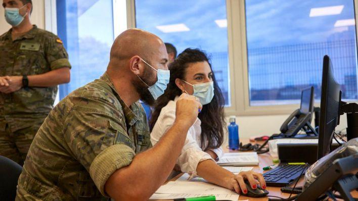 Los militares ya rastrean el Covid en Baleares
