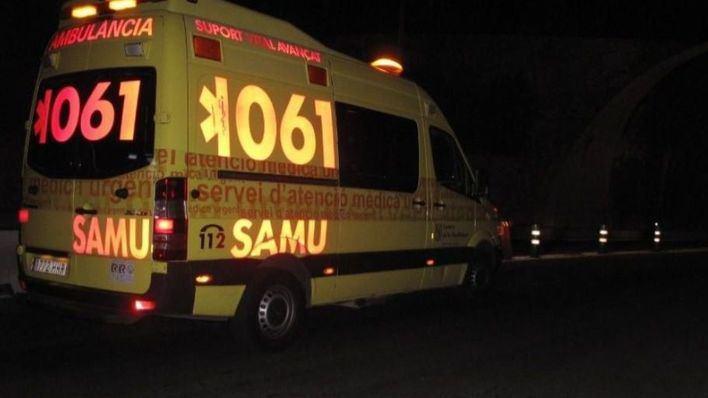 En estado grave un motorista tras un accidente en la carretera de Ses Salines a la Colonia de Sant Jordi