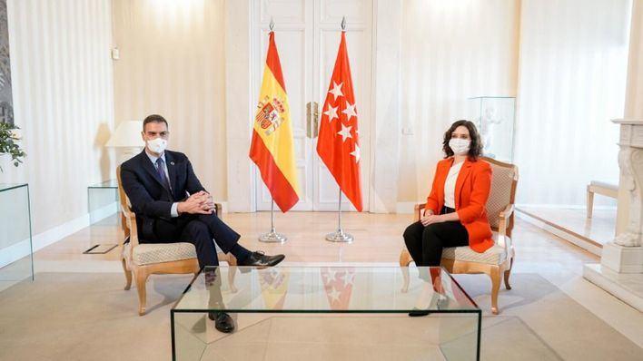 Sánchez y Ayuso entierran el hacha de guerra y acuerdan ir unidos contra la pandemia