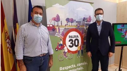 Los coches no podrán circular por Palma a más de 30 a partir de mediados de octubre