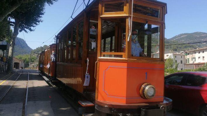 El Tren de Sóller reemprende sus servicios tras el temporal de agosto