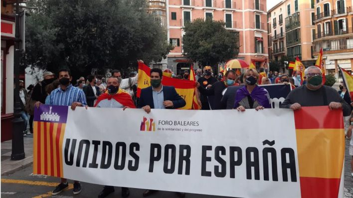 Manifestación en Palma para pedir la dimisión de Armengol y Sánchez