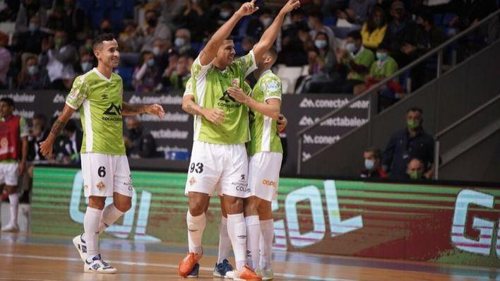 El Palma Futsal vapulea en un gran partido al Aspil Jumpers Ribera Navarra