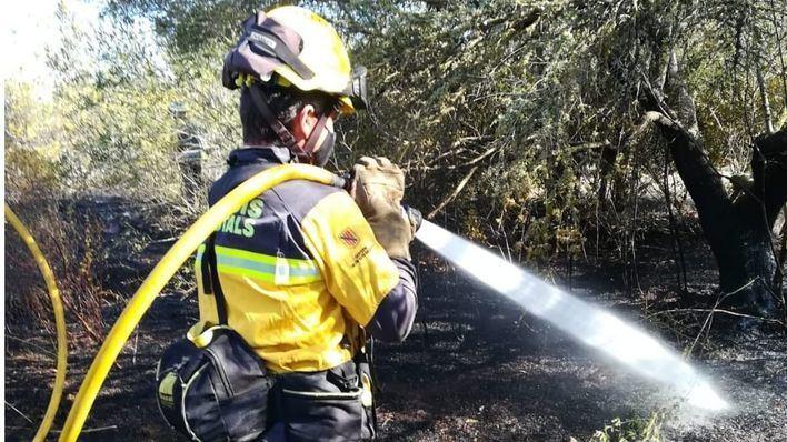 Declarado un incendio forestal en el municipio ibicenco de Sant Joan