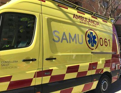 Herido un motorista en Ibiza tras chocar con un patinete