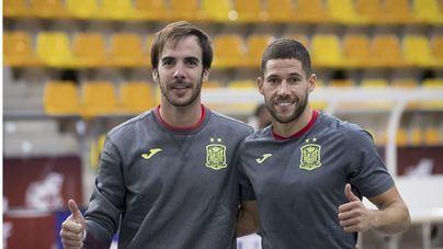 Carlos Barrón y Raúl Campos representan al Palma Futsal en la selección española