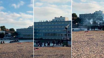 Así desembarca una patera en Ibiza: tracas y al hotel