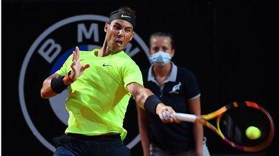 Trabajada victoria de Nadal ante Thompson que le sitúa en los cuartos de final del Masters de París