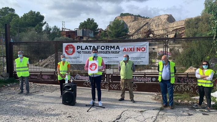 Protesta en Palma para pedir que no se reabra la cantera de Establiments