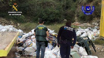 Denunciados por abandonar en una parcela de Calvià escombros de una obra del Port d'Andratx