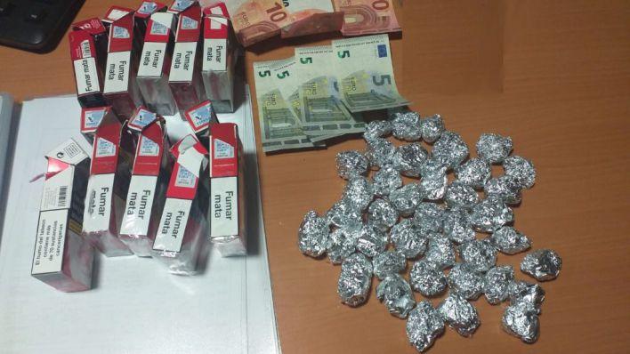 Arrestado en Son Gotleu con 37 envoltorios de marihuana
