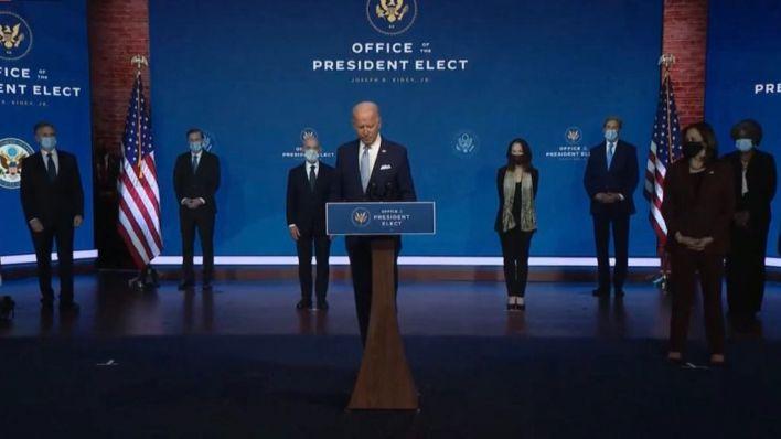 """Biden presenta a su Gabinete: 'Estados Unidos está de vuelta, lista para liderar el mundo"""""""
