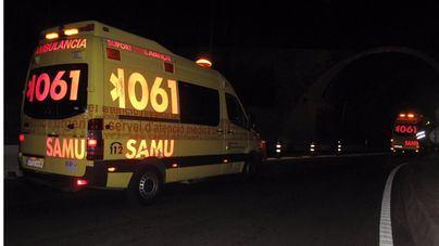 Un herido en Ibiza tras la colisión de un coche y una furgoneta