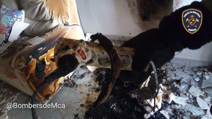 Dos víctimas por inhalación de humo en el incendio de una vivienda en Inca