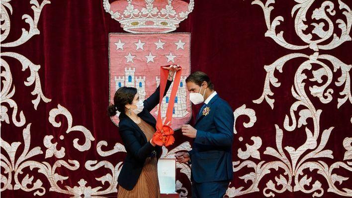 Madrid hace entrega a Rafa Nadal de su galardón más preciado: la Gran Cruz del Dos de Mayo