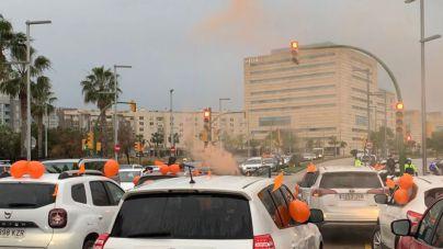 Masiva manifestación de coches en Palma contra la Ley Celaá