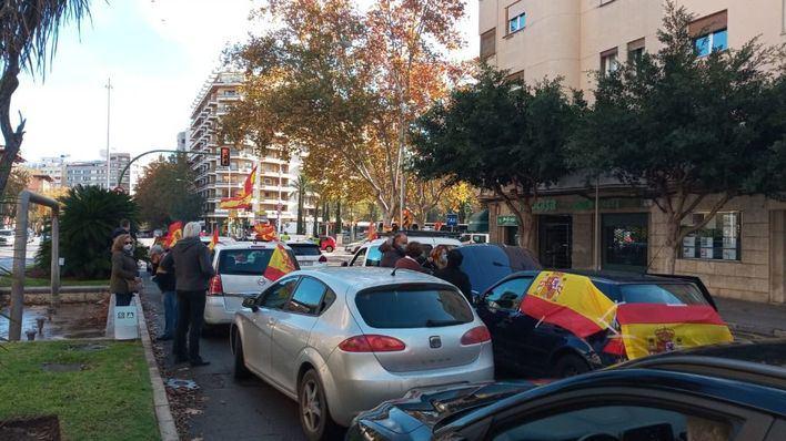 Manifestación a favor de la Constitución y contra Pedro Sánchez en Palma
