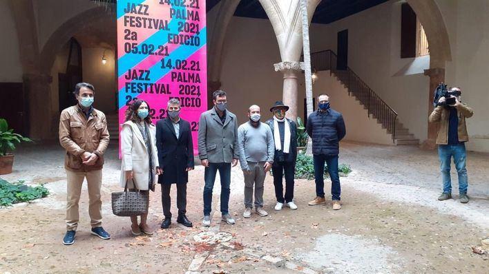 Perico Sambeat, Muriel Grossmann y Abe Rábade, en el Festival de Jazz de Palma