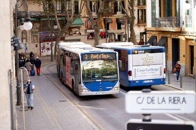 Los viajes en autobús y metro de Palma se desploman y bajan más de un 50 por ciento en octubre
