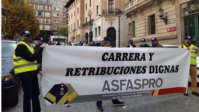 Concentración en Palma para reivindicar 'una carrera y retribuciones dignas' en las Fuerzas Armadas
