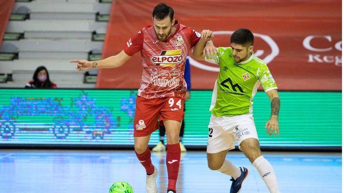 El Palma Futsal se mantiene en lo más alto tras un disputado y reñido empate