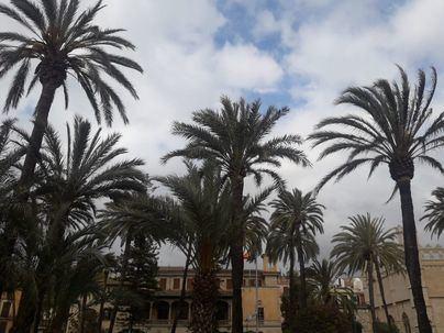 Cielos nubosos en Baleares con algún chubasco disperso