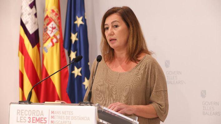 Armengol asistirá este domingo al acto institucional de la Diada de Mallorca