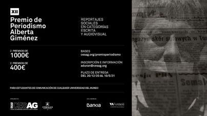El CESAG convoca el XII Premio de Periodismo Alberta Giménez