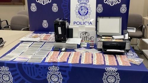 Detenido un menor que fabricaba y vendía billetes falsos de 10, 20 y 50 euros