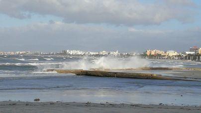 El temporal de viento causa 68 incidencias en Baleares