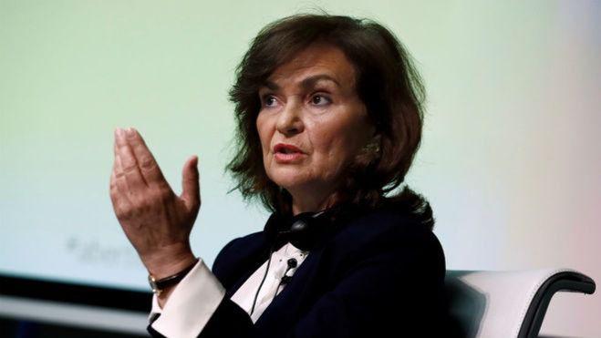 Carmen Calvo recuerda que el Gobierno es el que decide sobre los indultos a los presos del 'procés'
