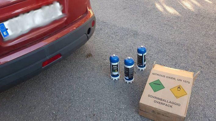 Dos detenidos en Ibiza por organizar una fiesta clandestina con 'gas de la risa'