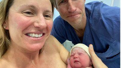 La pequeña Molly, primera bebé mallorquina de 2021