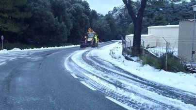 Alerta amarilla en la Serra de Tramuntana por nieve