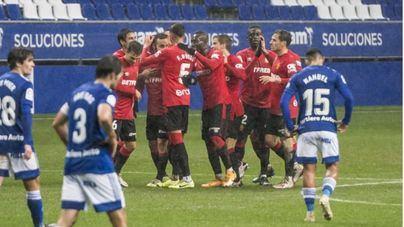 El Mallorca deja escapar la victoria y firma un luchado empate frente al Oviedo