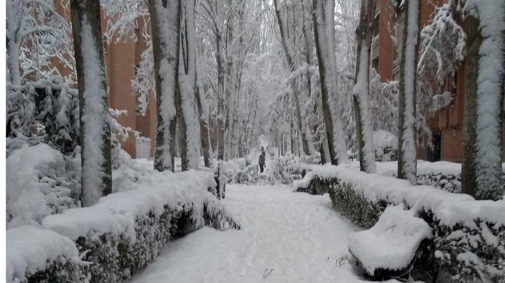 'Filomena' congela España