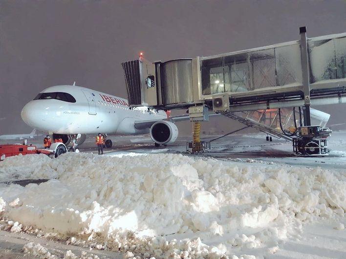 Suspendidos 8 vuelos de Baleares con Madrid por los efectos de la borrasca Filomena