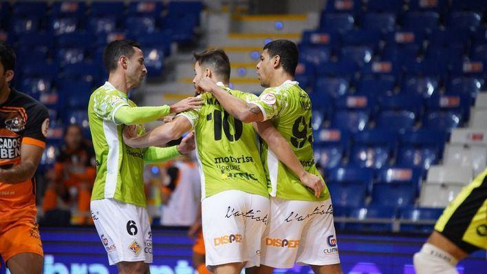 Baño de goles del Palma Futsal frente al Burela