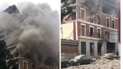 Una explosión en un edificio de Madrid se cobra la vida de cuatro personas